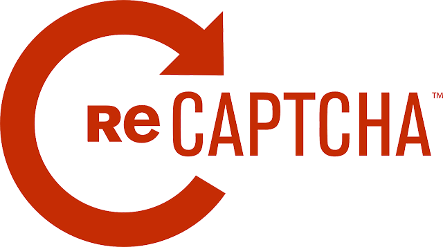 Red ReCAPTCHA logo against white background
