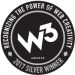 W3 silver award badge